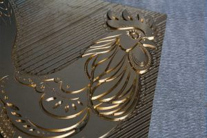 sharp detail brass cnc blocks for hot foil printing