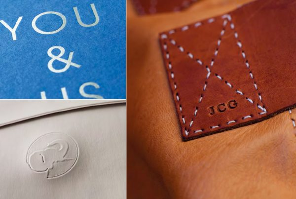 various personalised embossed and debossed products