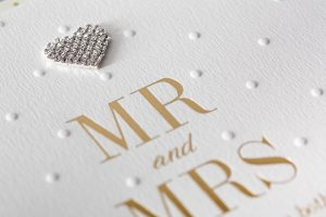 hot foil embossed wedding card