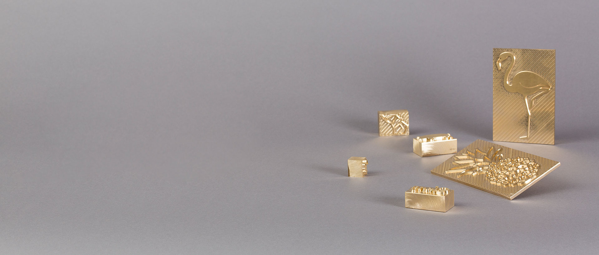 gold letterpress plates