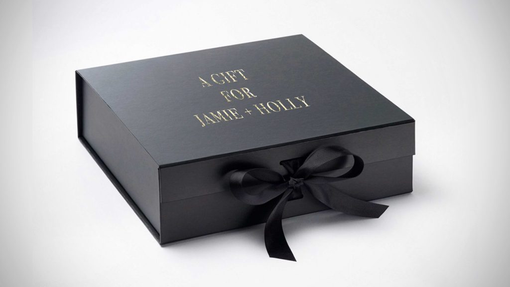 A hot foil luxury gift box